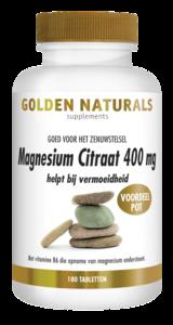 Golden Naturals Magnesium Citraat 400mg 180 tabl