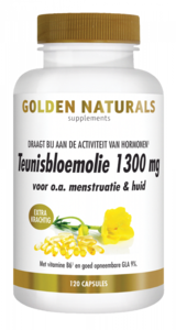 Golden Naturals Teunisbloemolie 1300 mg Extra Krachtig 120 softgels