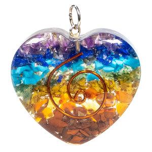 Orgoniet Hartvormige Hanger Multicolor