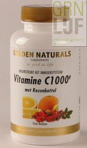 Golden Naturals Vitamine C 1000 + rozenbottel