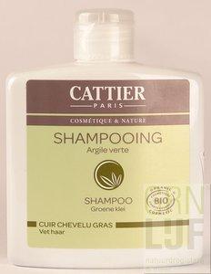 Cattier Shampoo groene klei vet haar
