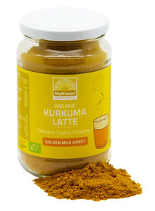 "Kurkuma Latte ""Goldenmilk gezoet"" BIO Mattisson"