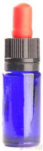 Pipetflesjes blauw 10ml met rood/zwart pipet - 25 stuks
