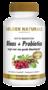 Golden Naturals Blaas + Probiotica 180 vegan capsules