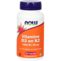 Vitamine D3 en K2 1000 IE / 45 mcg - 120 vegicaps - Vitortho